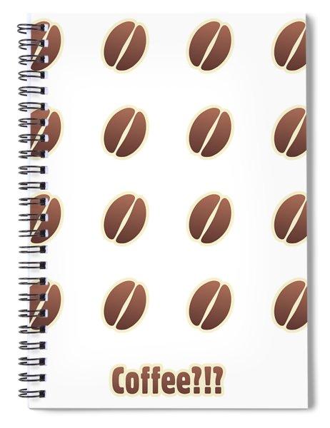 Tasty Coffee Seamless Pattern Spiral Notebook