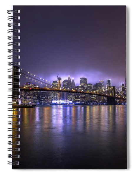 Bright Lights Of New York II Spiral Notebook