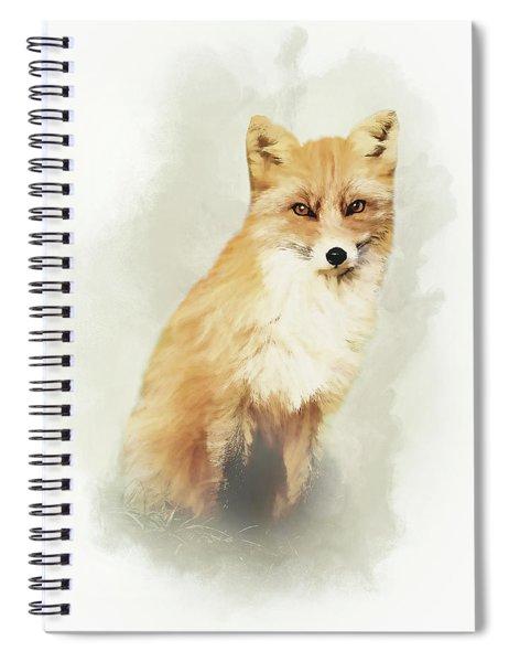 Woodland Fox Portrait Spiral Notebook