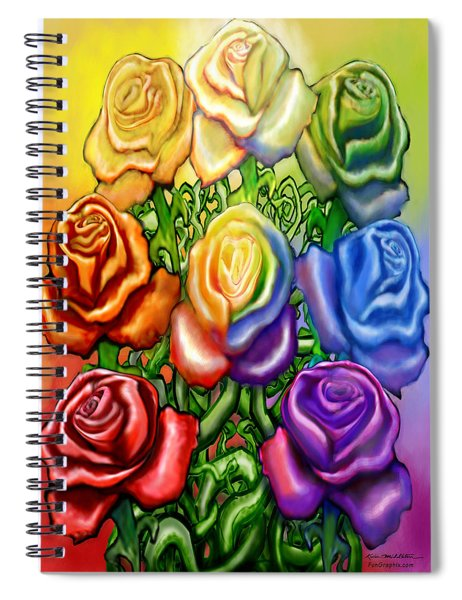 Rainbow Of Roses Spiral Notebook