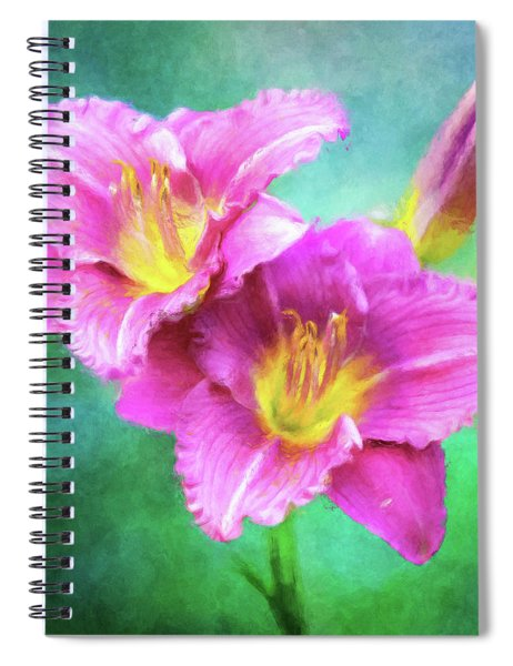 Dynamic Daylily Duo Spiral Notebook