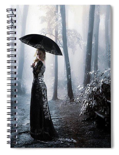 Silver Forest Walk Spiral Notebook