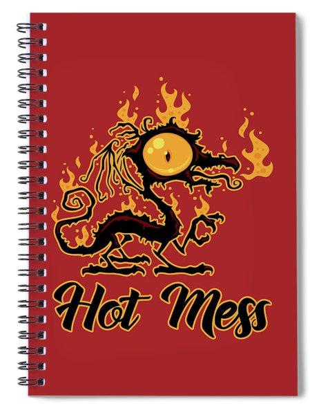Hot Mess Crispy Dragon Spiral Notebook