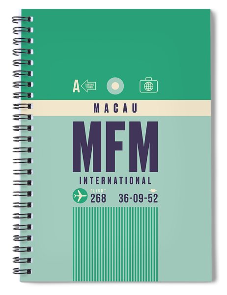 Retro Airline Luggage Tag - Mfm Macau Spiral Notebook