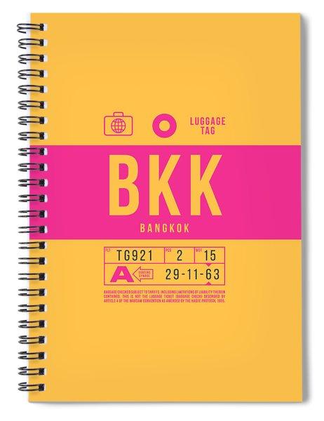 Retro Airline Luggage Tag 2.0 - Bkk Bangkok Thailand Spiral Notebook