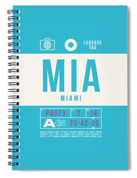 Retro Airline Luggage Tag 2.0 - Mia Miami International Airport United States Spiral Notebook