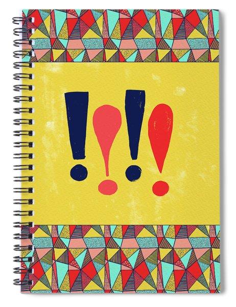 Exclamations Pop Art Spiral Notebook