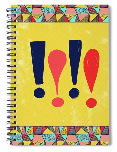 Exclamations Pop Art Spiral Notebook