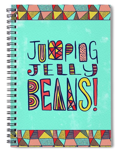 Jumping Jelly Beans Spiral Notebook
