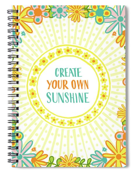 Create Your Own Sunshine Spiral Notebook