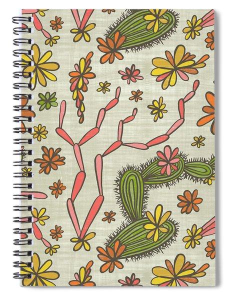 Flowering Cacti Elements Spiral Notebook