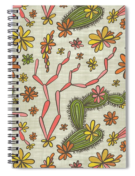 Flowering Cacti Elements Spiral Notebook