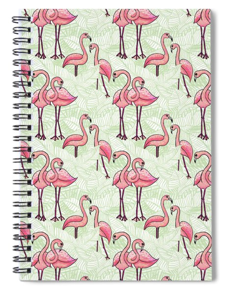 Flamingo Pattern Spiral Notebook