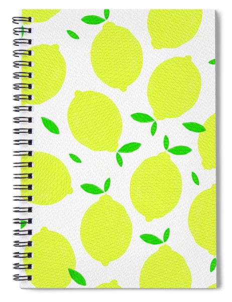 Sunny Lemon Pattern Spiral Notebook