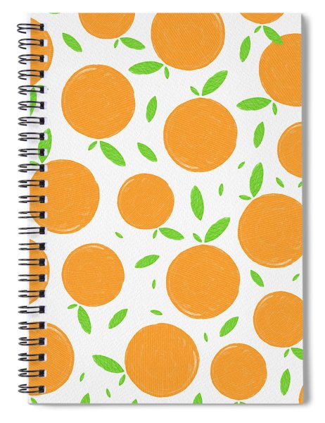 Sunny Citrus Pattern Spiral Notebook