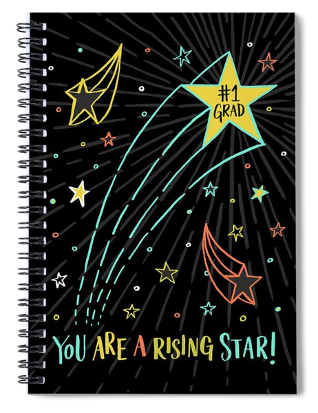 You Are A Rising Star Grad Card Spiral Notebook