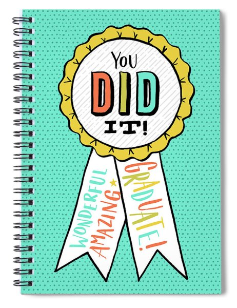 You Did It Award Grad Card Spiral Notebook
