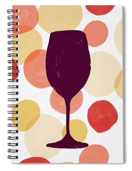 Bold Modern Wine Glass Art Spiral Notebook