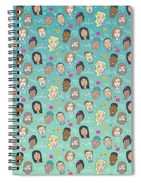 Say Hello People Spiral Notebook