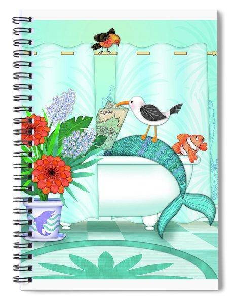 A Mermaid Moment Spiral Notebook