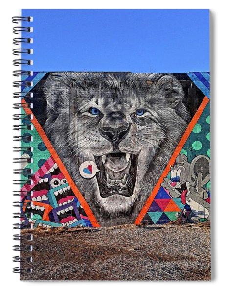 Detroit's Lion Mural Spiral Notebook