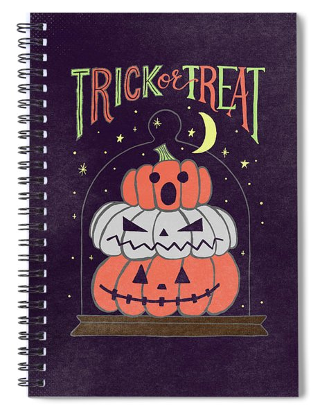 Trick Or Treat Halloween Art Spiral Notebook