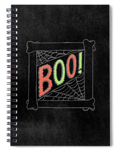 Boo Halloween Art Spiral Notebook