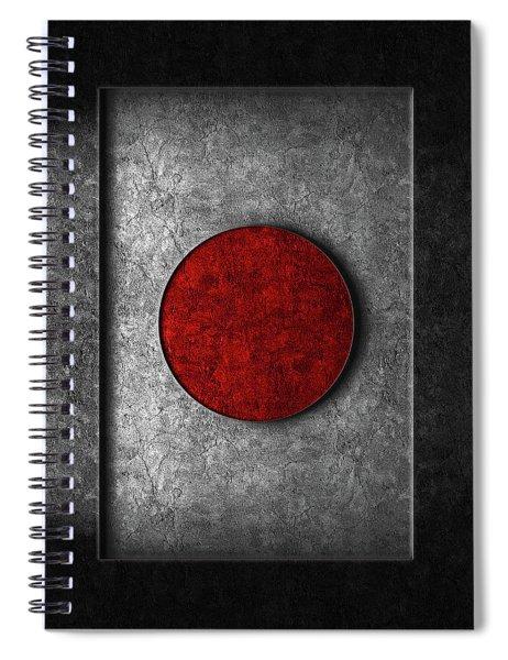 Japanese Flag Stone Texture Spiral Notebook