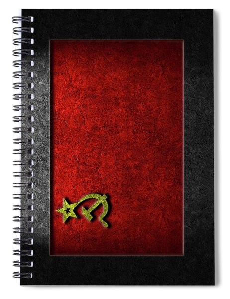 Ussr Flag Stone Texture Spiral Notebook