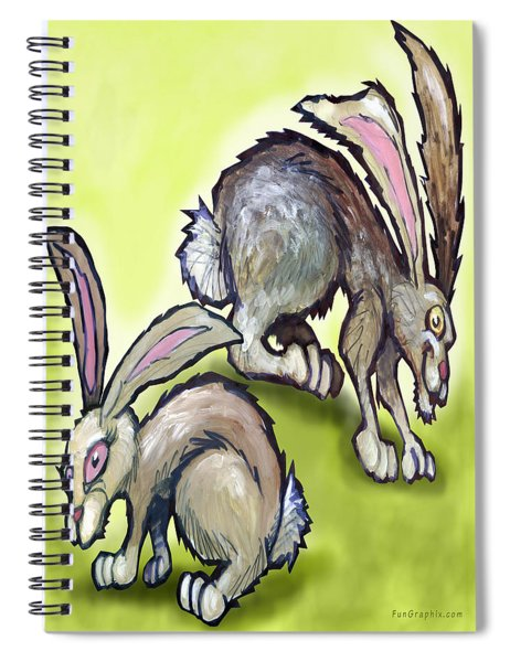 Jack Rabbits Spiral Notebook