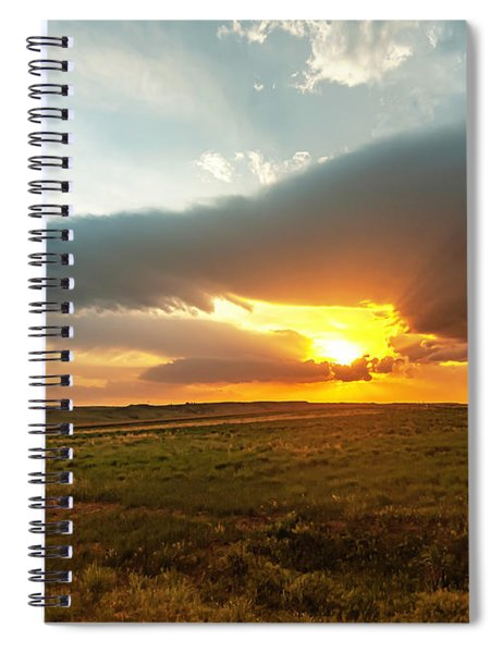 As The Sun Is Setting Spiral Notebook