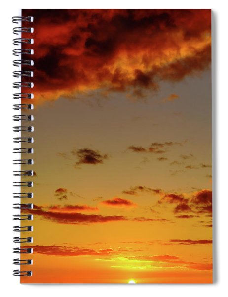 As The Sun Touches Spiral Notebook