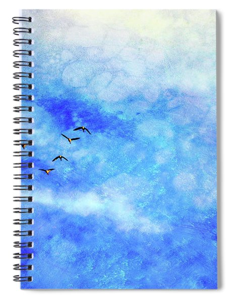 As Winter Is Leaving Room For Spring Spiral Notebook