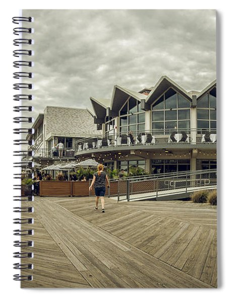 Asbury Park Boardwalk Looking South Spiral Notebook