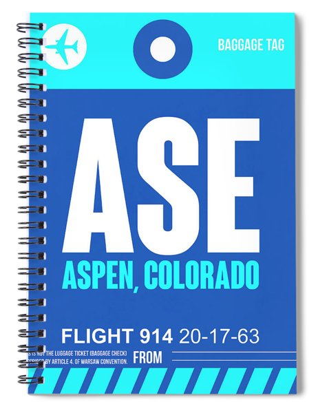 Ase Aspen Luggage Tag II Spiral Notebook