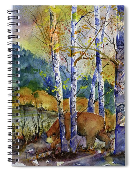 Aspen Bears At Emmigrant Gap Spiral Notebook