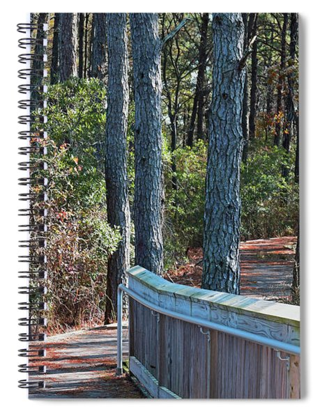 Spiral Notebook featuring the photograph Assateague Nature Trail by Patti Whitten