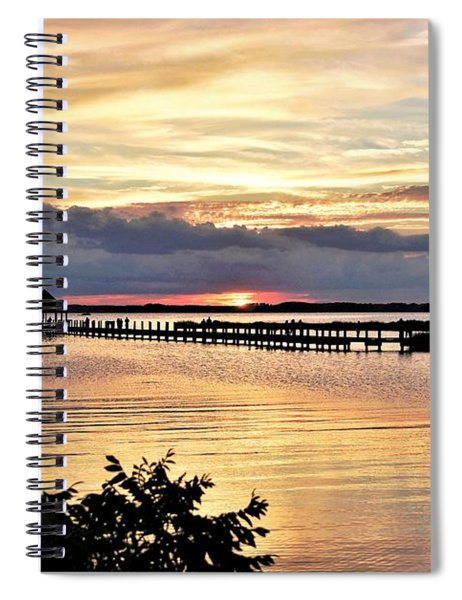Assawoman Sunset Spiral Notebook