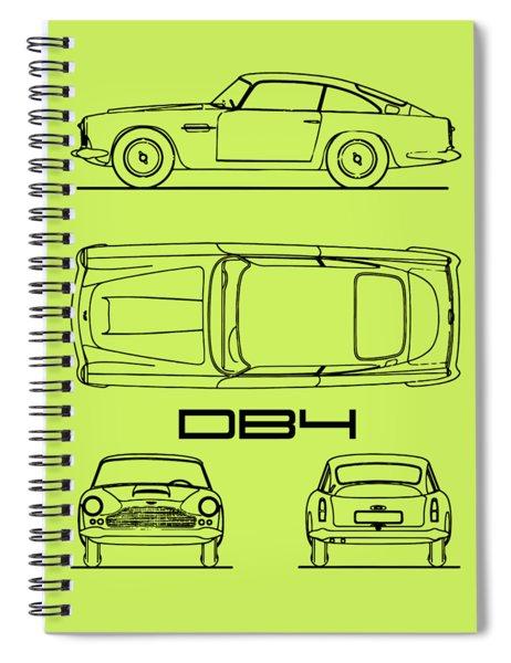Aston Martin Db4 Blueprint Spiral Notebook