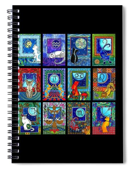 Astrology Cat Zodiacs Spiral Notebook