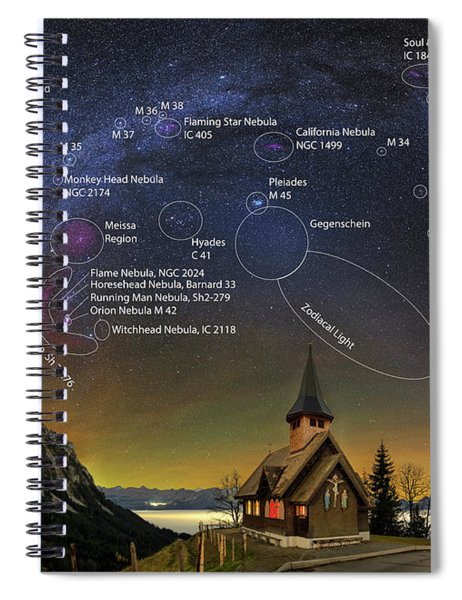 Astrophotography Winter Wonderland Spiral Notebook