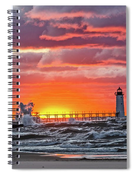 At The Beginning Of The Sunset Spiral Notebook