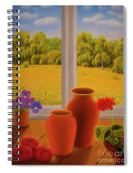 At The Window Spiral Notebook