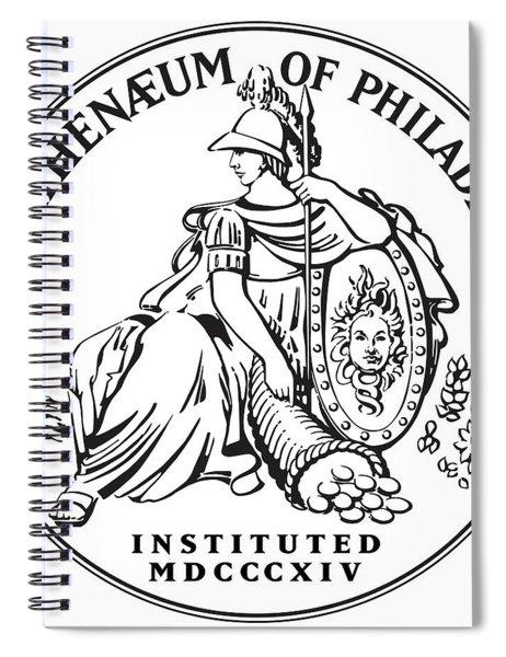 Athenaeum Of Philadelphia Logo Spiral Notebook