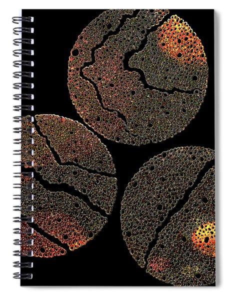 Atoms Ink Artwork Spiral Notebook