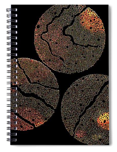 Atoms Ink Artwork Spiral Notebook