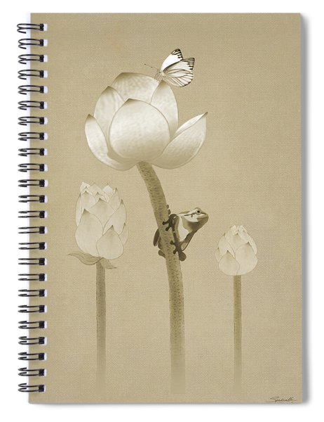 Atop The Lotus Flower Spiral Notebook