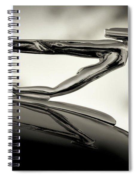 1936 Auburn 851 Sc Boattail Speedsterdster Hood Ornament Spiral Notebook