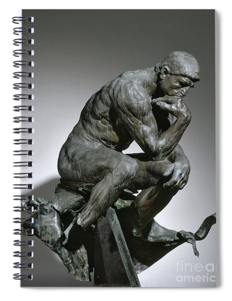 Auguste Rodin The Thinker Spiral Notebook