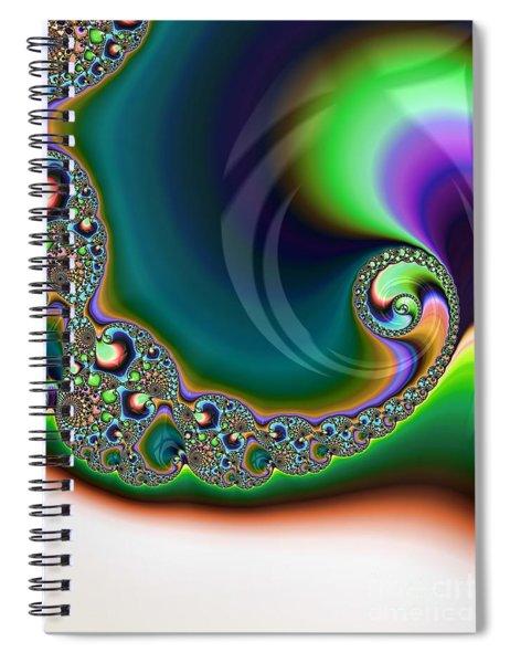 Aurora Borealis Over Snow Fractal Abstract Spiral Notebook